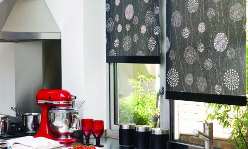 Roller blinds kitchen dark