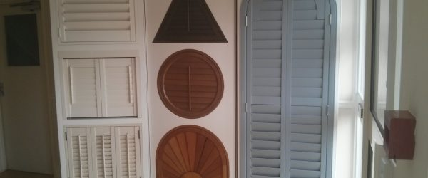 colours and materials available for our shutters made to your specification