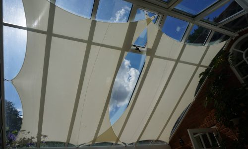 Close up roof sails