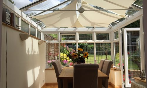 Edwardian conservatory with roof sails