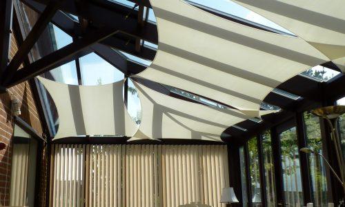 Cream sail match conservatory