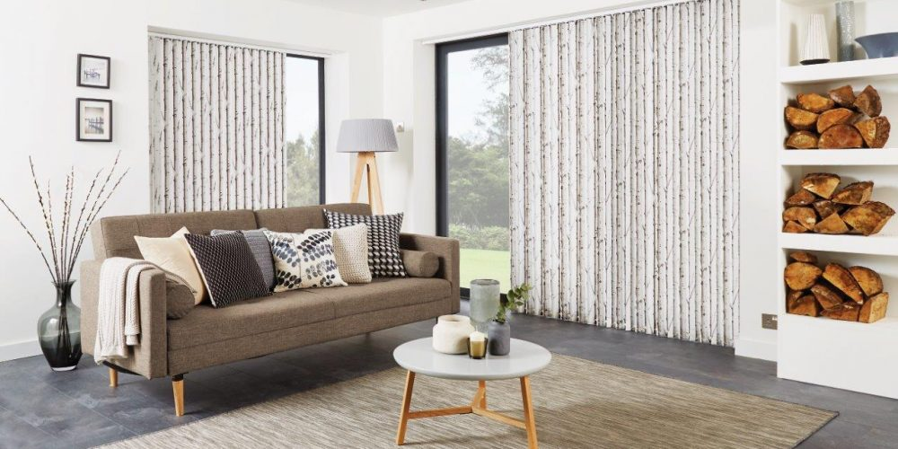 Vertical Blinds Woodland Silver Birch