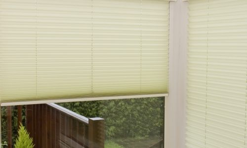 Pleated open blinds
