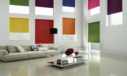 Roller blinds colours to match your decor