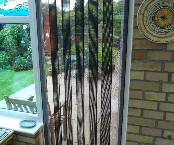 Inside view fly screen door